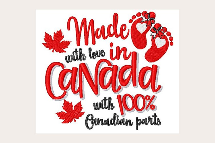 Made In Canada - Machine Embroidery Design example image 1