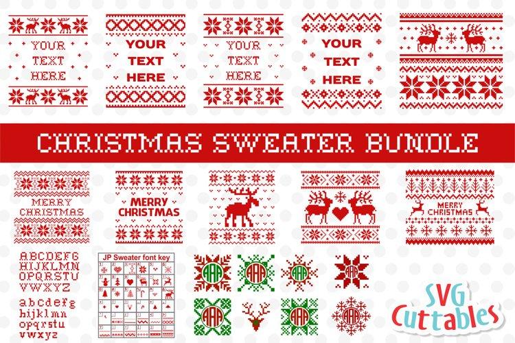 Christmas SVG Bundle   Christmas Sweater SVG example image 1
