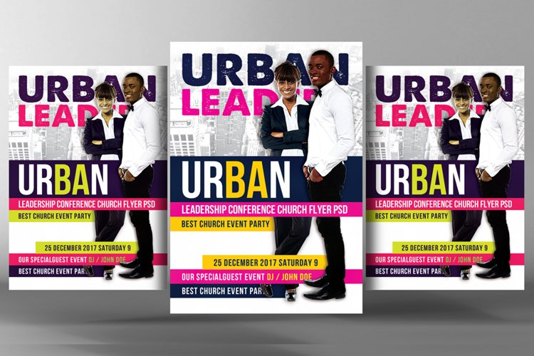 Youth Leadership Conference Church Flyer example image 1