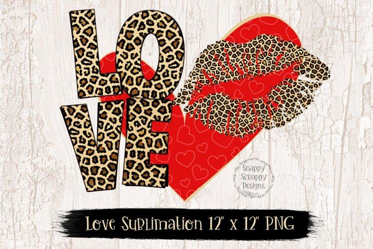 Leopard Print Love Sublimation Design