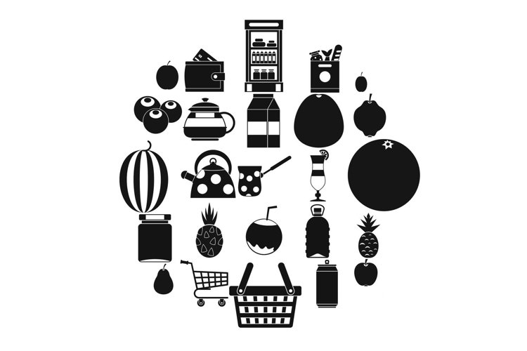 Kettle icons set, simple style example image 1