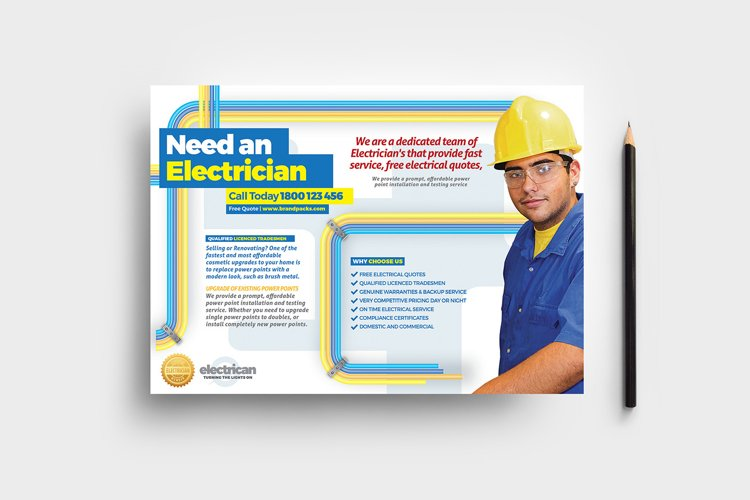 Electrician Flyer Template example image 1