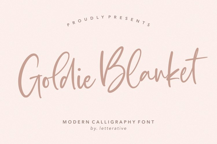 Goldie Blanket Modern Calligraphy Font example image 1