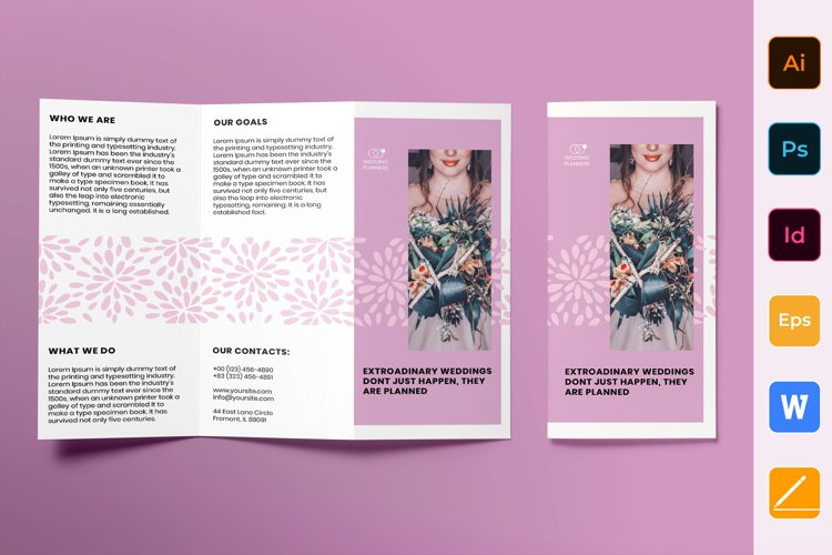 Wedding Planner Brochure Trifold example image 1