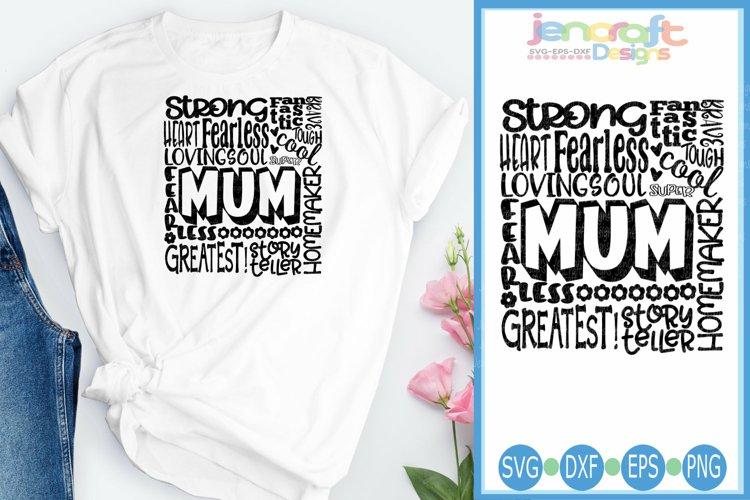 Mum SVG, Mothers Day SVG, typography word art Svg, Eps,