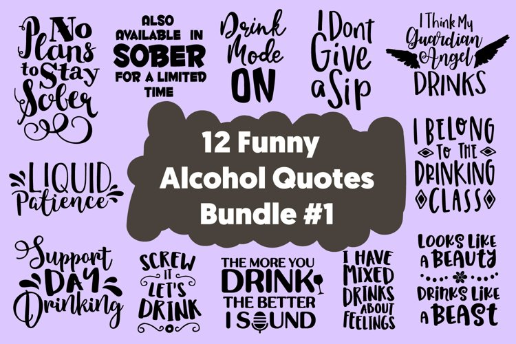 12 Funny Drinker Quotes SVG for Cricut Cut files SVG Bundle