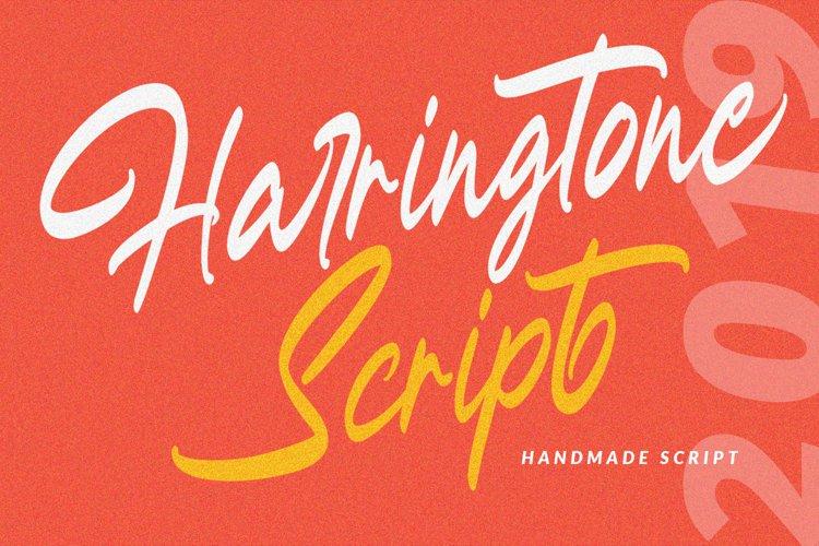 Harringtone Script example image 1