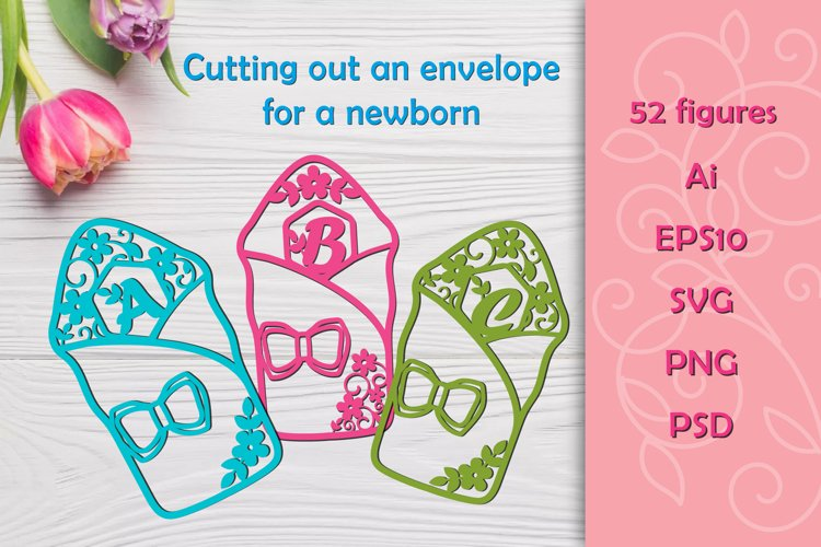 Cutting the envelope for the newborn. SVG example image 1