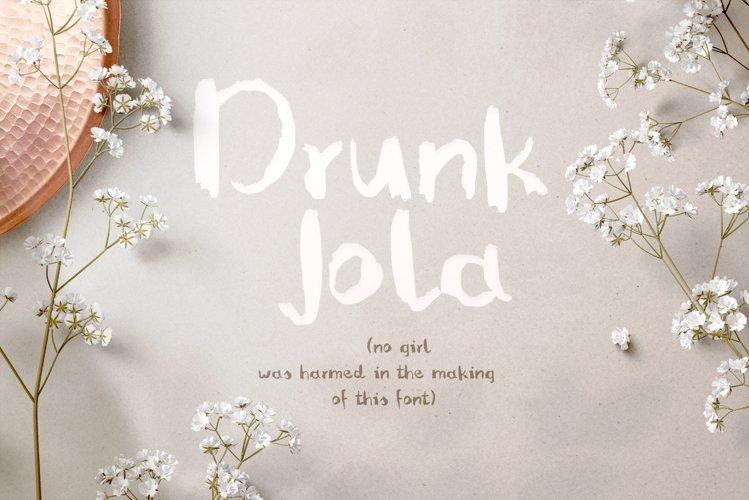 Drunk Jola font example image 1