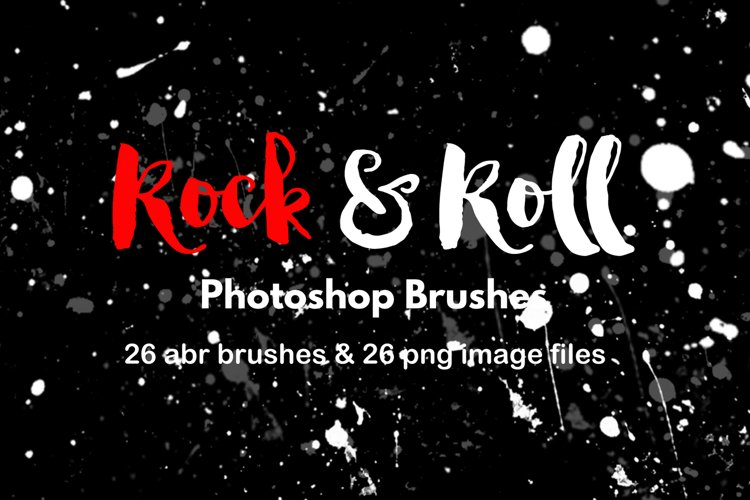 Photoshop Brushes Paint Splatter Watercolor Grunge Graffiti example image 1