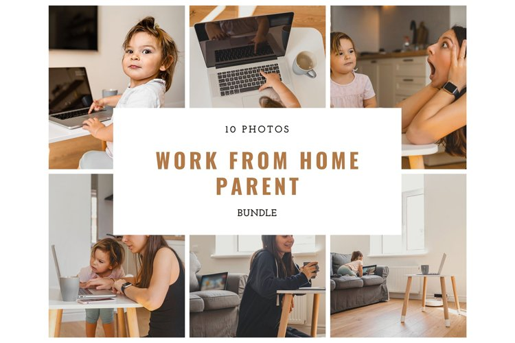 Work From Home Mother, 10 photos bundle example image 1