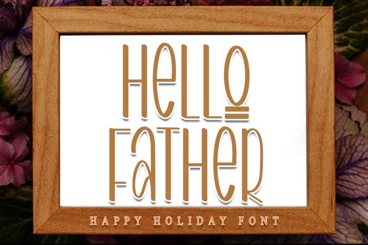 Hello Father - Modern Holiday Font example image 1