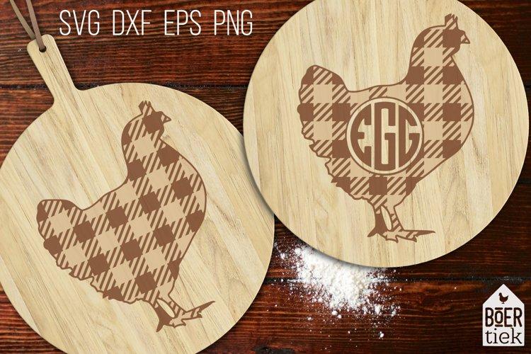 Buffalo plaid chicken   Farm SVG cutting file   2 designs
