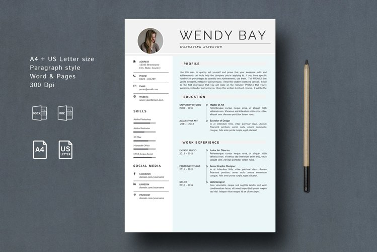Creative Resume Template Clean & Simple example image 1
