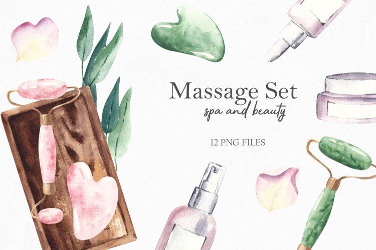 Watercolor Massage Set, Roller Massager, Gua Sha