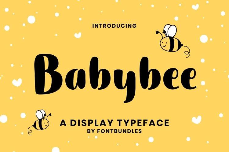 Web Font Babybee example image 1