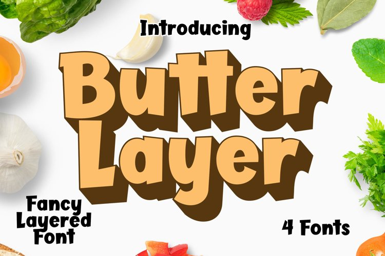 Butter Layer - 4 Fonts example image 1
