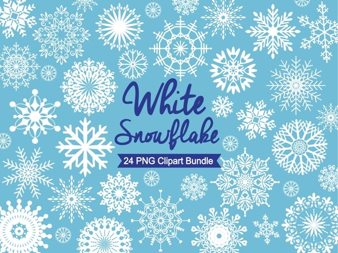 Snowflake Clipart - White Snowflakes