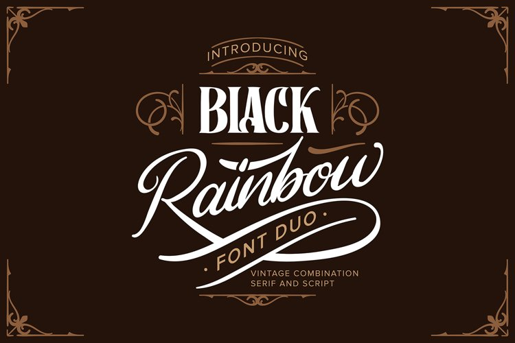 Black Rainbow | Font Duo Vintage Serif and Script example image 1