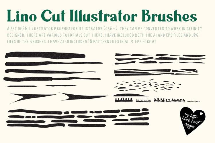 Linocut Brushes for Illustrator