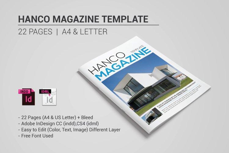 Hanco Magazine Template example image 1