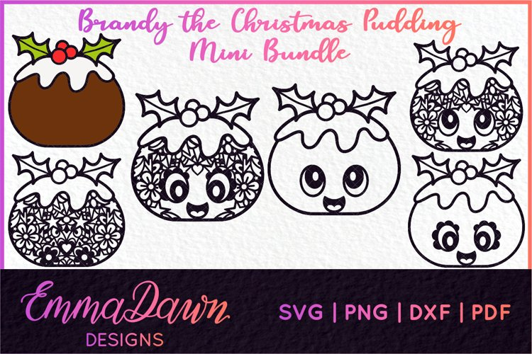 BRANDY THE CHRISTMAS PUDDING SVG MINI BUNDLE 6 DESIGNS example image 1