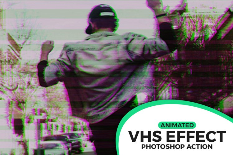 Animated VHS Effect Action