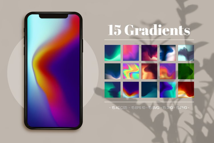 15 Colorful Gradient Background Set example image 1
