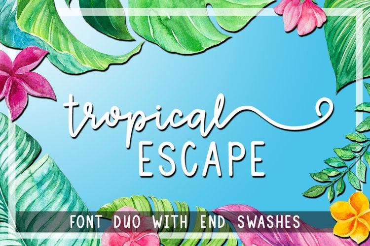 Tropical Escape - Font Duo with End Swashes example image 1