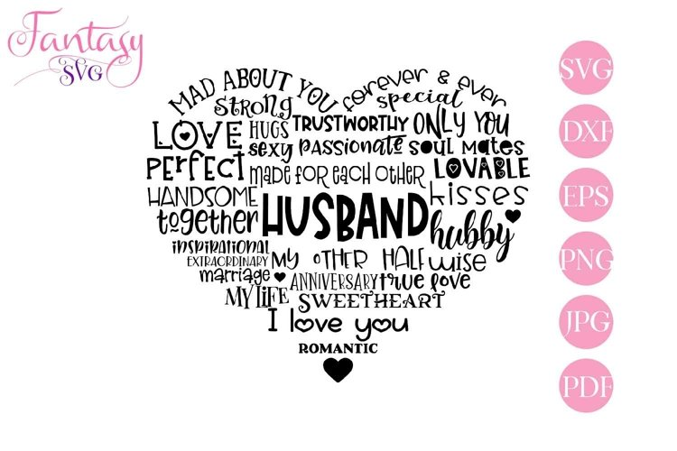 Husband Word Art - Svg Cut Files