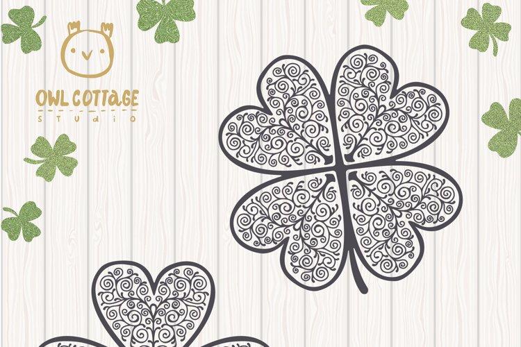St. Patricks day svg, Clover Leaf, Clover Leaf Tattoo example 9