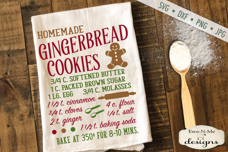 Gingerbread Cookie Recipe - Kitchen - SVG DXF Files