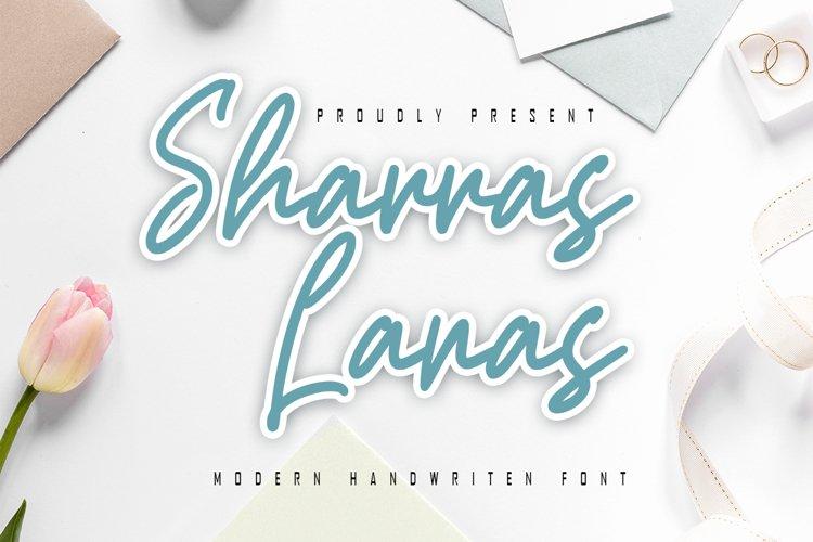 Sharras Lanas - Modern Handwritten Font example image 1