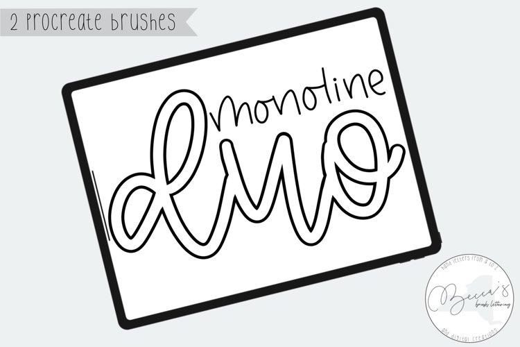 Procreate Duo Brush Pack | Monoline & Outline Brush