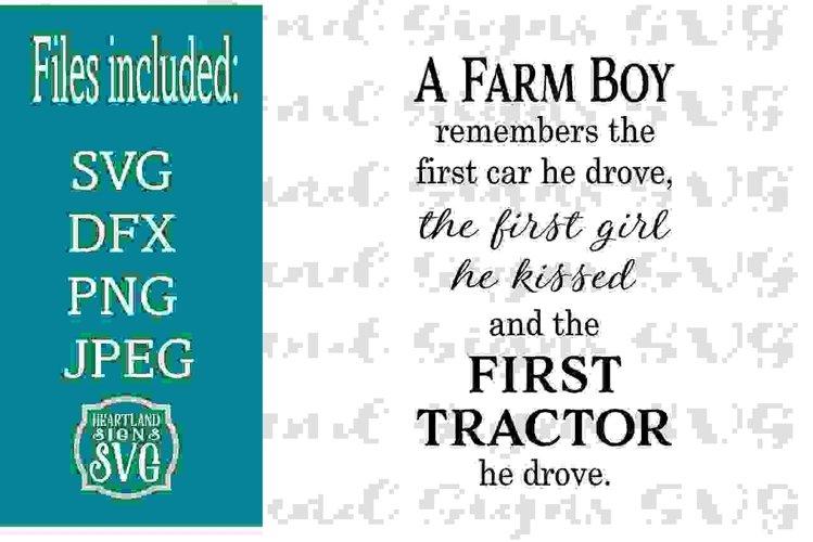 A Farm Boy First Tractor SVG