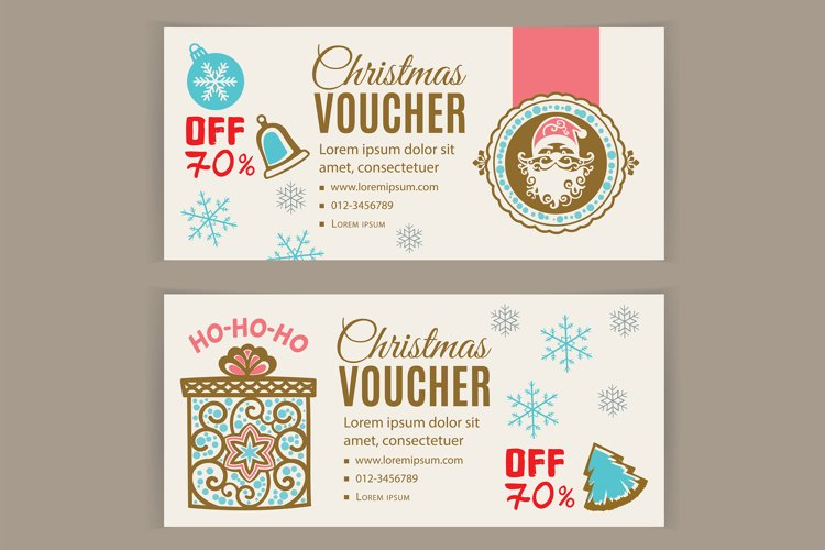 Christmas Voucher with Santam Gift, Off 70 percent example image 1