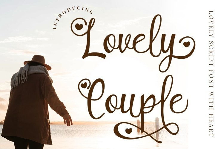 Lovely Couple - Romantic Script With Heart example image 1
