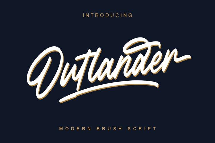 Outlander Brush Script example image 1