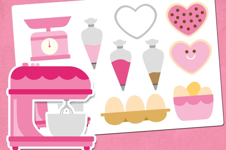 Valentine Baking Illustrations Clip Art