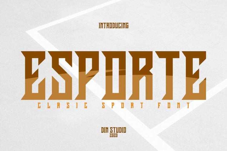 Esporte-Classic Sport Font example image 1