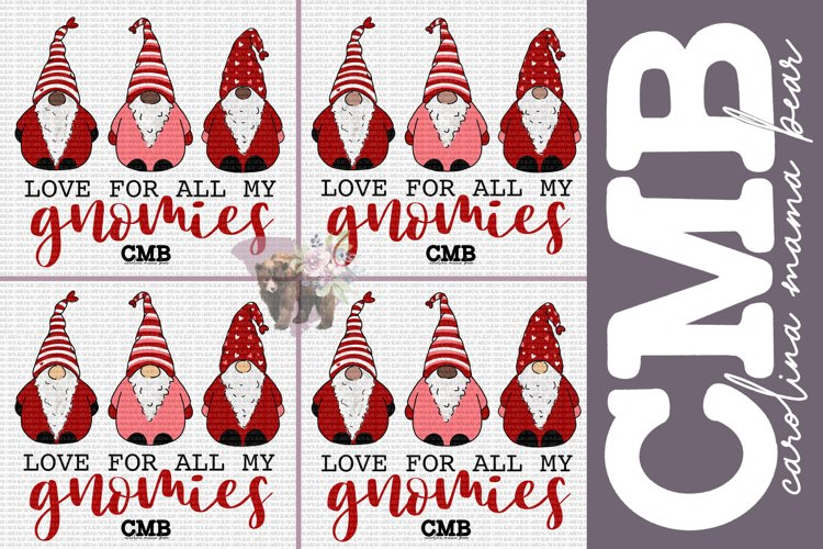 Love All My Gnomies PNG File / Sublimation Clipart File example image 1
