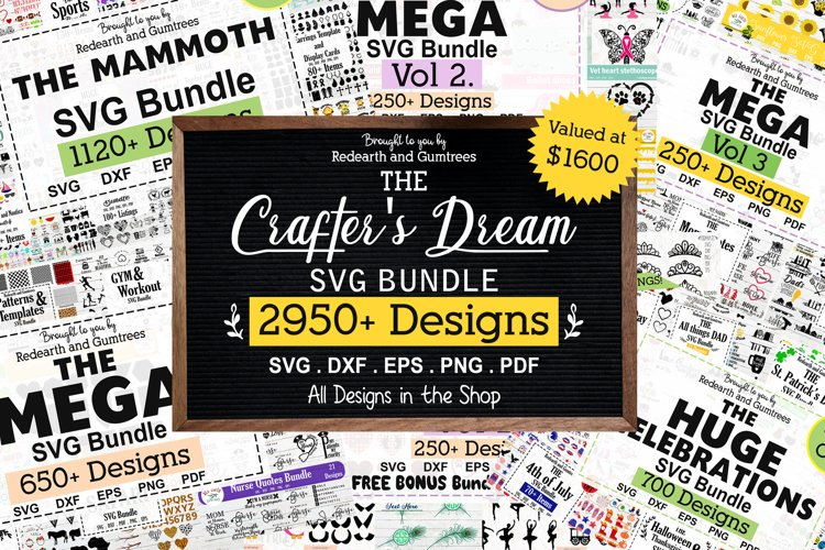 The Crafters Dream SVG Bundle, Huge Collection of SVG files example image 1