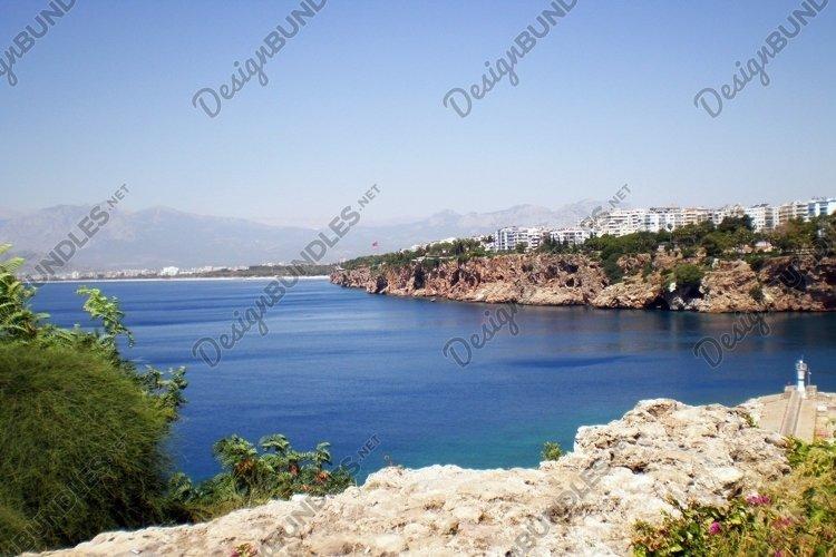 Mediterranean Sea in old city Kaleicy. Antalya example image 1