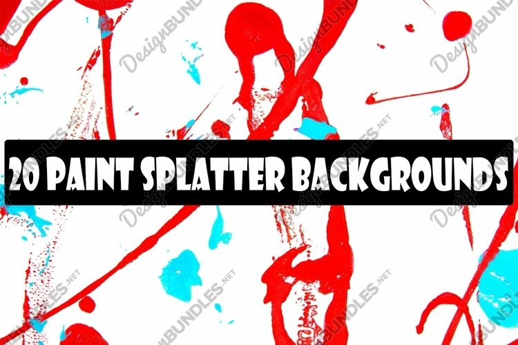 Abstract Red and Blue Paint Splatter Punk by Squeeb Creative