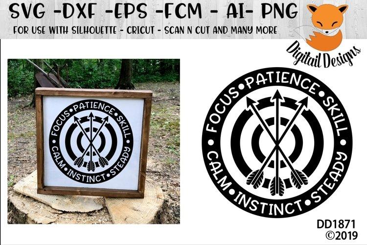 Archery Target Motivational SVG