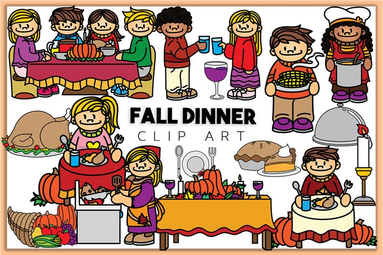Fall Dinner Clip art