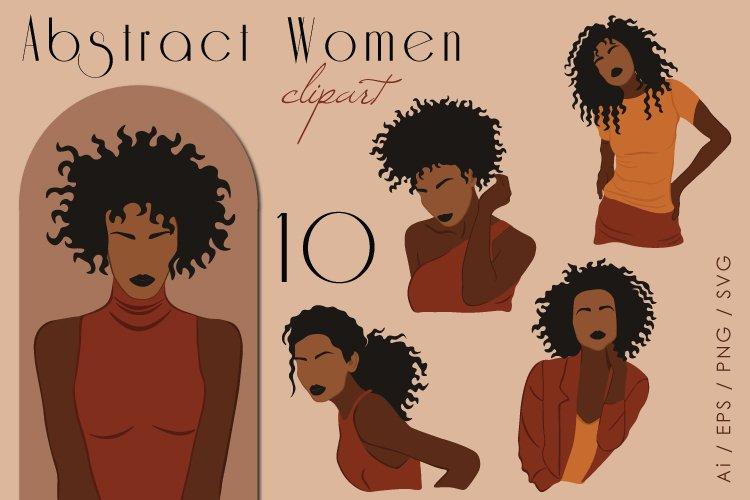 Black Girl Clipart, Fashion Illustration, Female Clip Art