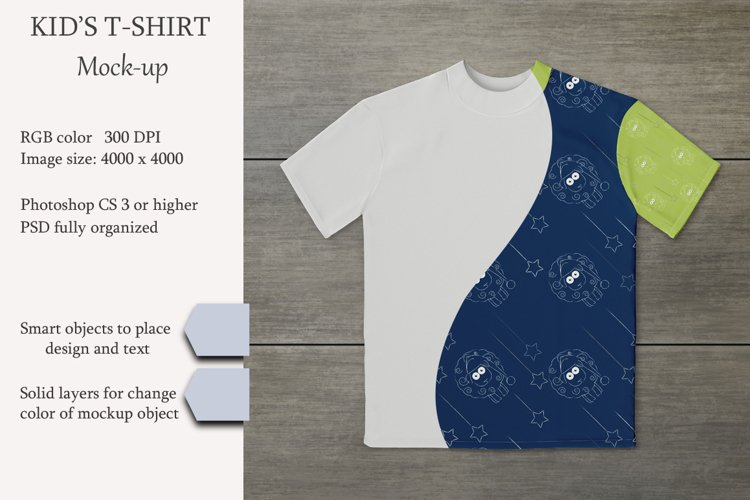 Kids t-shirt mockup. Product mockup. example image 1