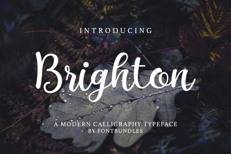 Web Font Brighton example image 1