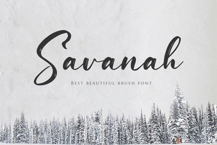 Savanah, a Brush Script Font example image 1